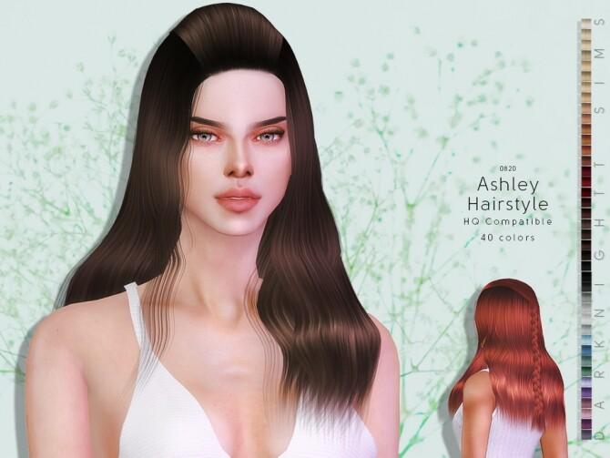 Sims 4 Ashley Hairstyle by DarkNighTt at TSR