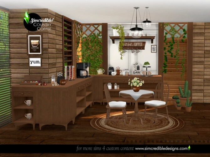 Country Coffee Set by SIMcredible at TSR image 778 670x503 Sims 4 Updates