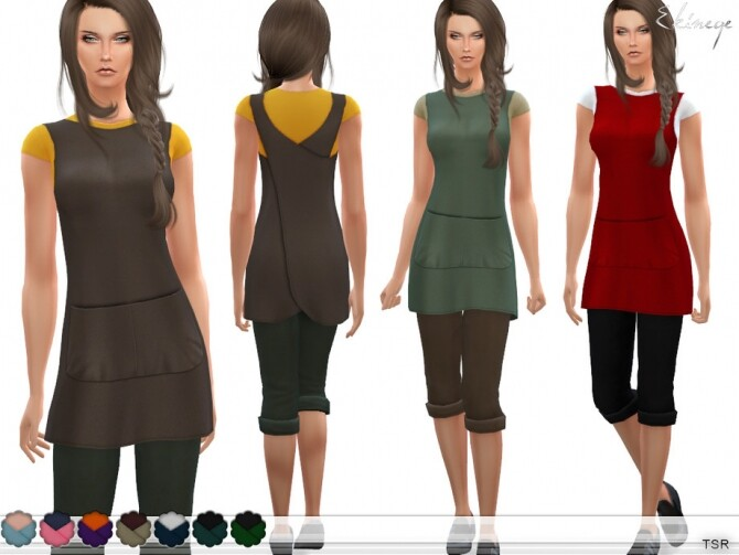 Cross Back Apron by ekinege at TSR image 7810 670x503 Sims 4 Updates