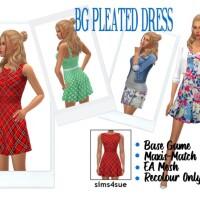 BG PLEATED DRESS