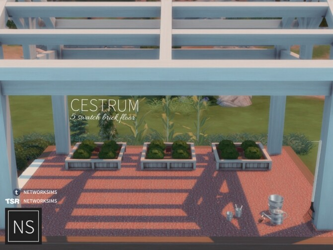 Cestrum Brick Floor by Networksims at TSR image 786 670x503 Sims 4 Updates