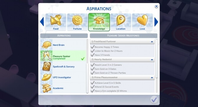 Sims 4 Pleasure Aspiration by SarahLin07 at Mod The Sims