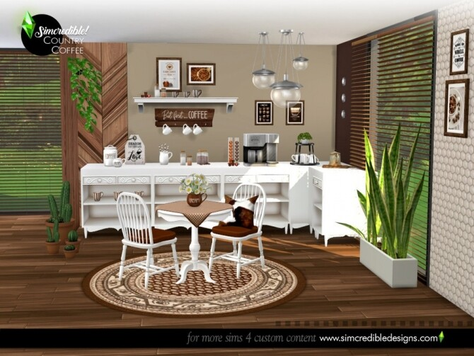 Country Coffee Set by SIMcredible at TSR image 788 670x503 Sims 4 Updates