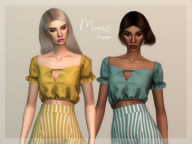 Monic top by laupipi at TSR image 795 670x503 Sims 4 Updates