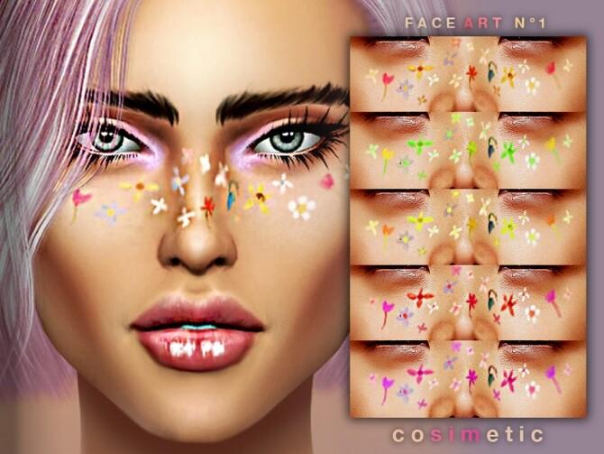 Sims 4 Face Art / Tattoo N1 by cosimetic at TSR