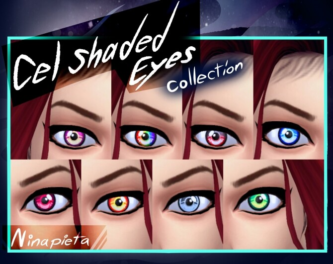 Sims 4 Cel Shaded Eyes DR by Ninapieta at Mod The Sims