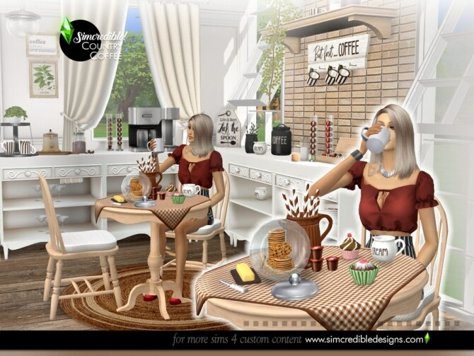 Country Coffee Set by SIMcredible at TSR image 808 670x503 Sims 4 Updates