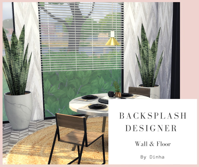 Sims 4 Backsplash Designer Wall & Floor 4 Textures at Dinha Gamer