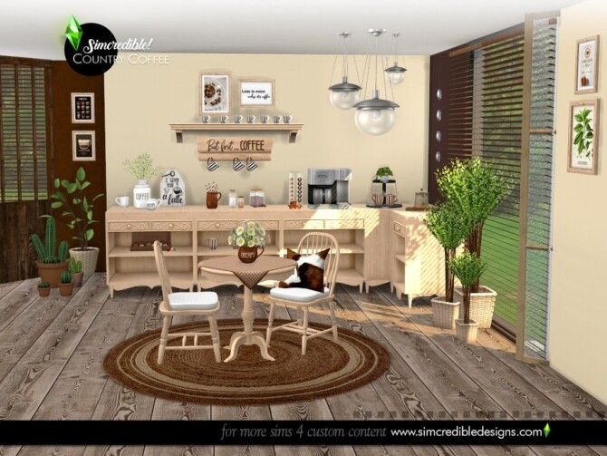 Country Coffee Set by SIMcredible at TSR image 8112 670x503 Sims 4 Updates