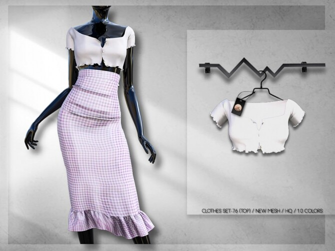 Sims 4 Clothes SET 76 (TOP) BD294 by busra tr at TSR