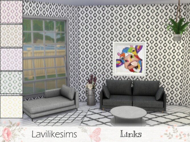 Chain Links Wall by lavilikesims