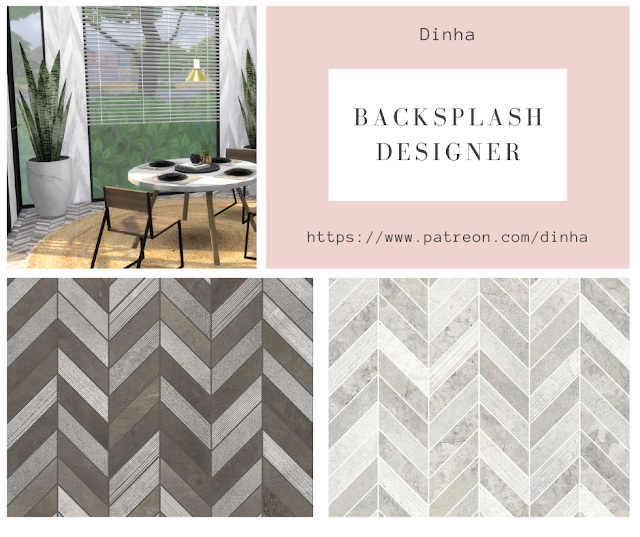 Backsplash Designer Wall & Floor 4 Textures at Dinha Gamer image 828 Sims 4 Updates