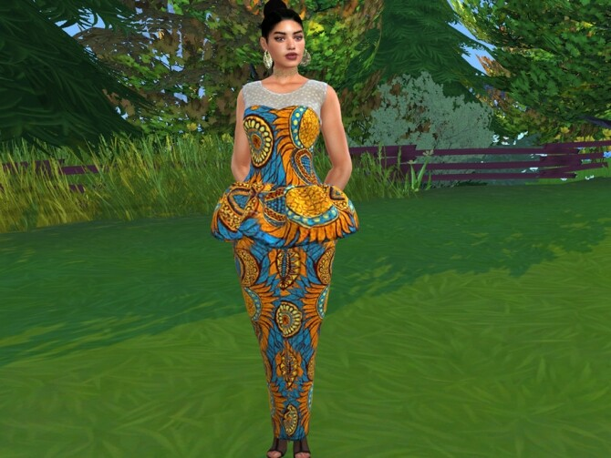 Sims 4 Ankarah Summer Dress by drteekaycee at TSR