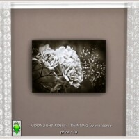 Moonlight Roses Painting by marcorse