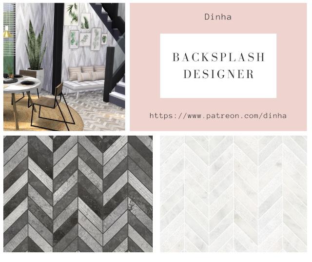 Backsplash Designer Wall & Floor 4 Textures at Dinha Gamer image 837 Sims 4 Updates