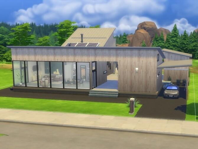 Sims 4 Eggebu Modern Home at KyriaT's Sims 4 World