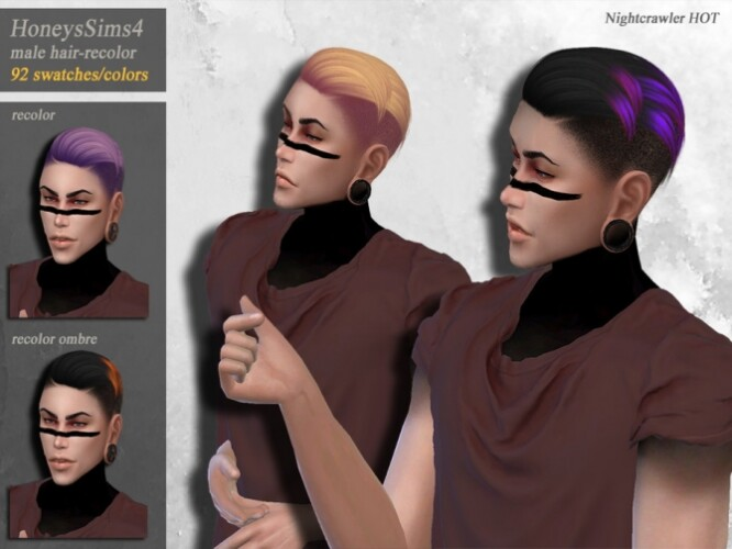 Nightcrawler Hot male hair recolor by HoneysSims4