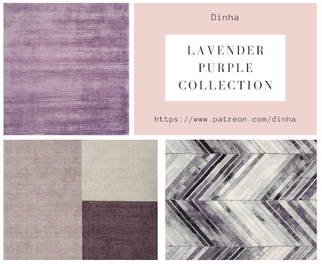 Lavender Purple Collection: Painting & Rug at Dinha Gamer image 857 Sims 4 Updates