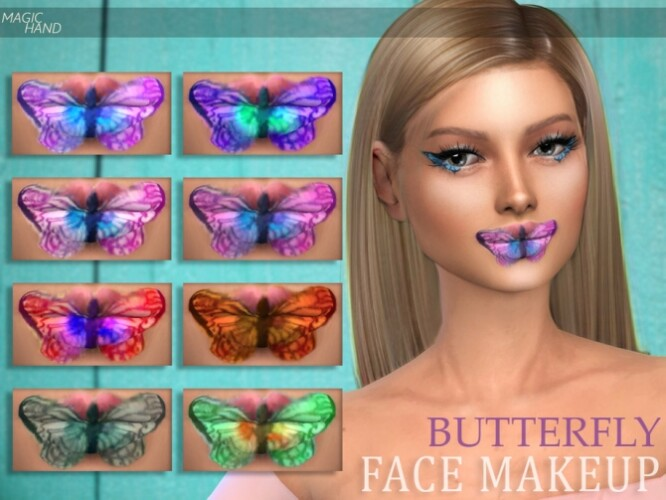 Butterfly Face Makeup by MagicHand