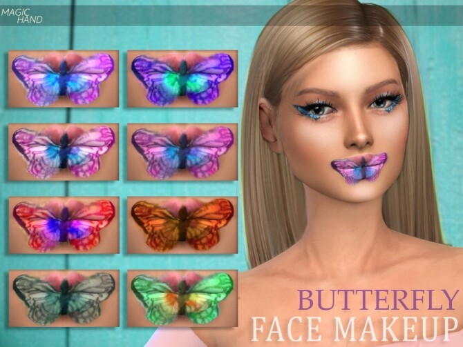 Butterfly Face Makeup by MagicHand at TSR image 865 670x503 Sims 4 Updates