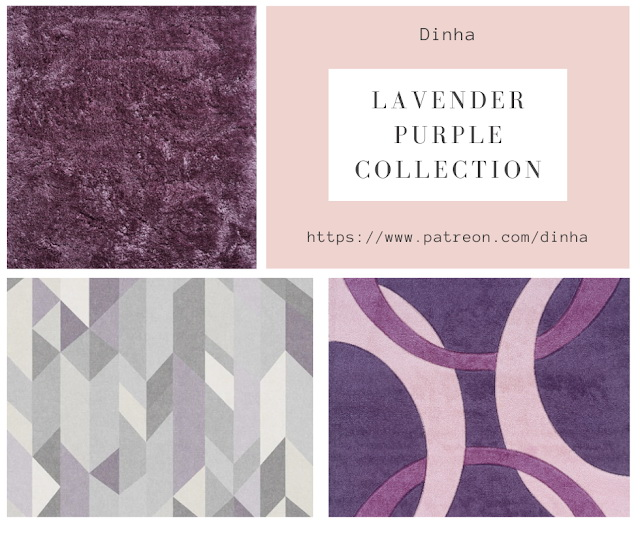 Lavender Purple Collection: Painting & Rug at Dinha Gamer image 866 Sims 4 Updates