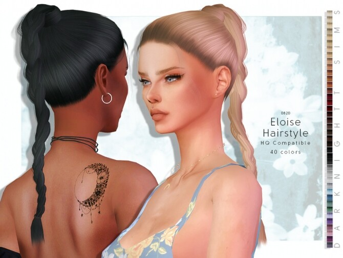 Sims 4 Eloise Hairstyle by DarkNighTt at TSR