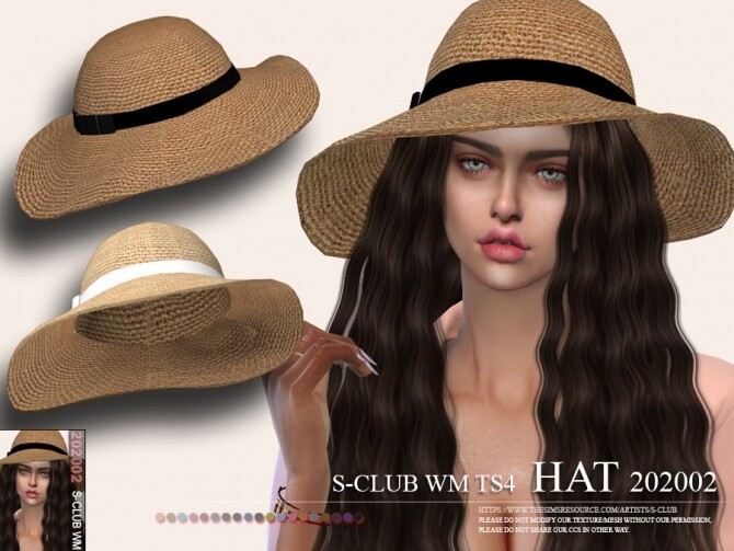 Sims 4 Hat 202002 by S Club WM at TSR