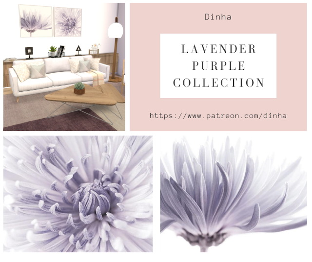 Lavender Purple Collection: Painting & Rug at Dinha Gamer image 877 Sims 4 Updates