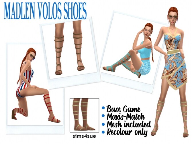 Sims 4 MADLEN VOLOS SHOES at Sims4Sue