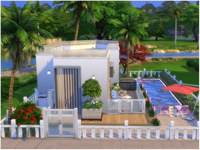 Sims 4 Pink House by lotsbymanal at TSR