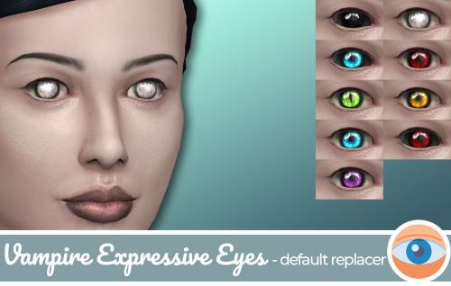 Sims 4 Vampire Eyes Replacer at Frenchie Sim