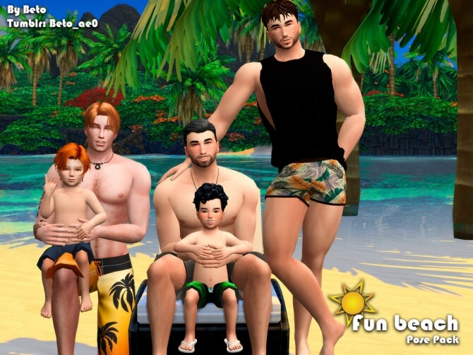 Fun beach Pose Pack by Beto ae0 at TSR image 898 670x503 Sims 4 Updates