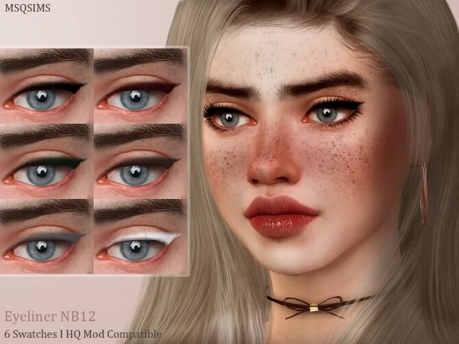 Sims 4 Eyeliner NB12 at MSQ Sims
