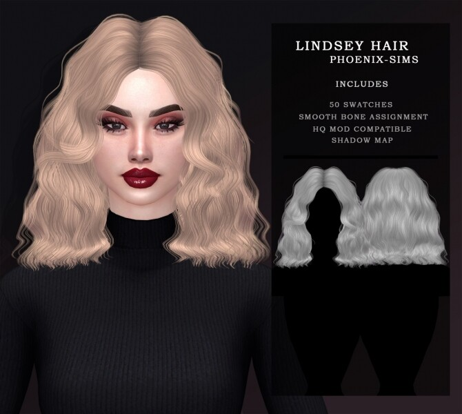 LINDSEY HAIR & NIGHTCRAWLER 07 HAIR CONVERSION at Phoenix Sims image 904 670x600 Sims 4 Updates