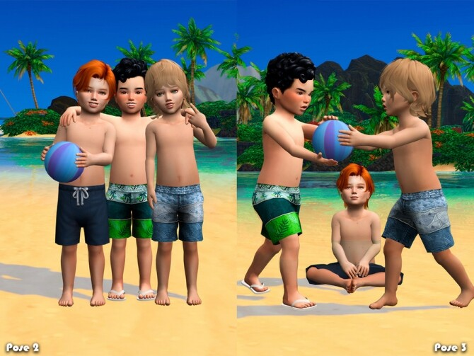 Sims 4 Fun beach Pose Pack by Beto ae0 at TSR