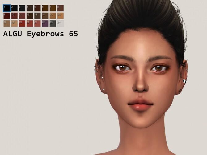 Sims 4 EYEBROWS by ALGU at TSR