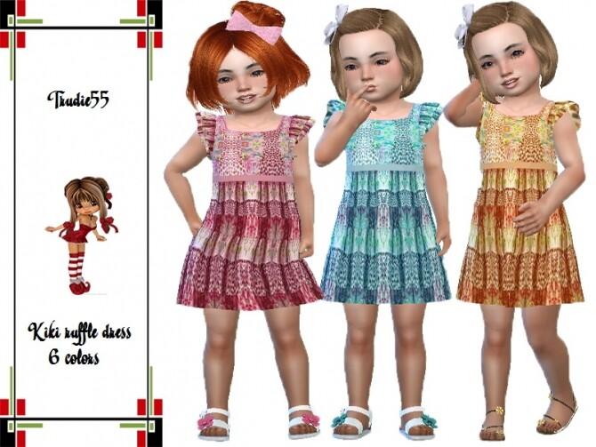 Sims 4 Kiki ruffle dress by TrudieOpp at TSR