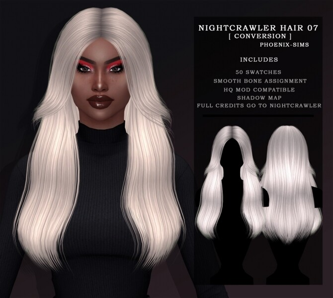 LINDSEY HAIR & NIGHTCRAWLER 07 HAIR CONVERSION at Phoenix Sims image 917 670x600 Sims 4 Updates
