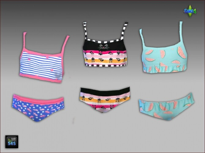 6 swimsuits for girls by Mabra at Arte Della Vita image 932 670x503 Sims 4 Updates