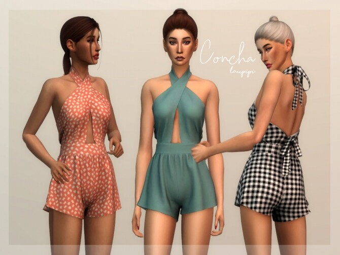 Concha outfit by laupipi at TSR image 933 670x503 Sims 4 Updates
