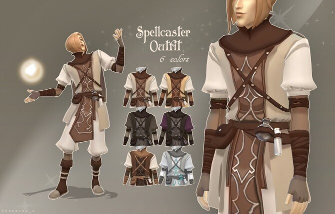 Sims 4 Spellcaster Outfit by kennetha v at Mod The Sims