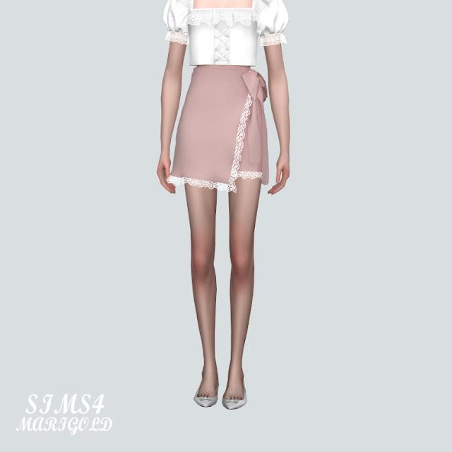 Lace Cute Mini Skirt V2 at Marigold image 9411 Sims 4 Updates