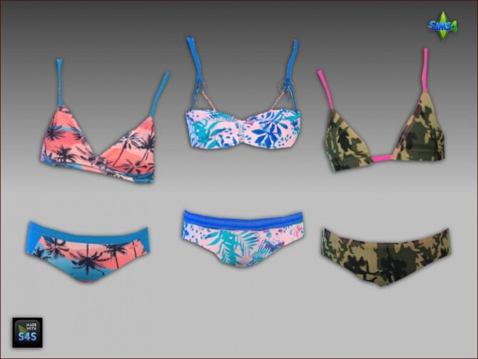 6 swimsuits for girls by Mabra at Arte Della Vita image 942 670x503 Sims 4 Updates