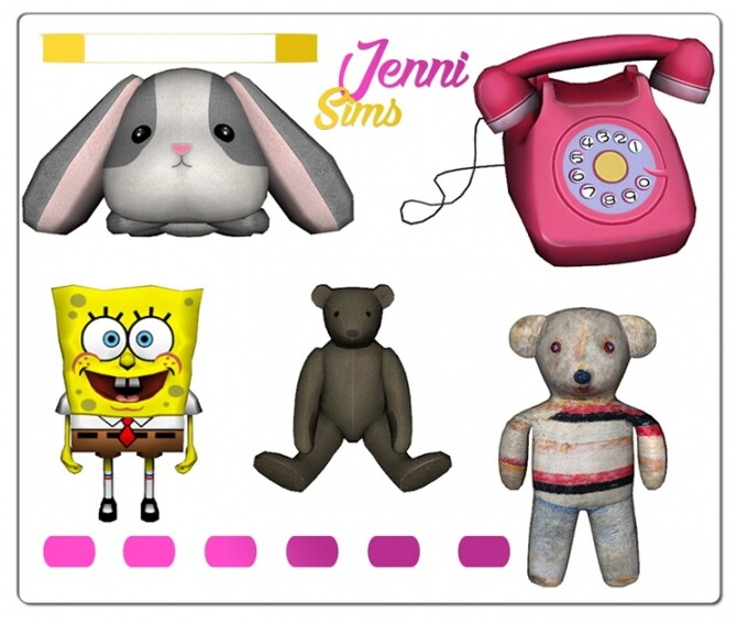 Sims 4 CLUTTER DECORATIVE 5 ITEMS at Jenni Sims