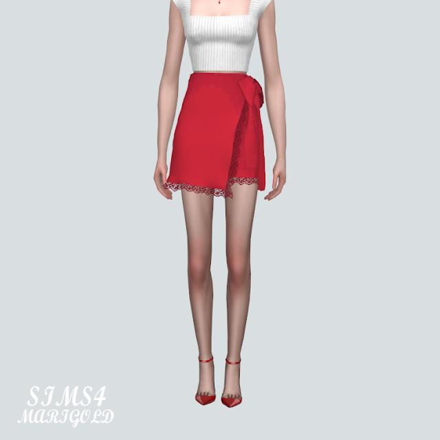 Lace Cute Mini Skirt V2 at Marigold image 9511 Sims 4 Updates