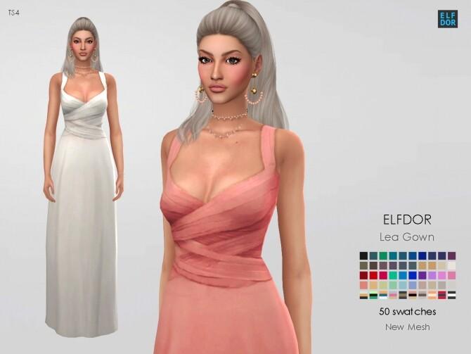 Sims 4 Dress Lea at Elfdor Sims
