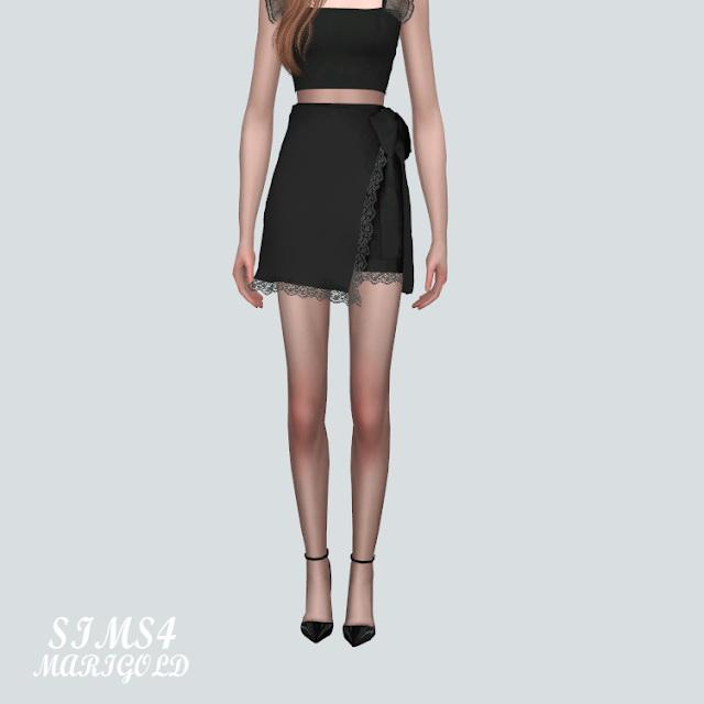 Lace Cute Mini Skirt V2 at Marigold image 9611 Sims 4 Updates