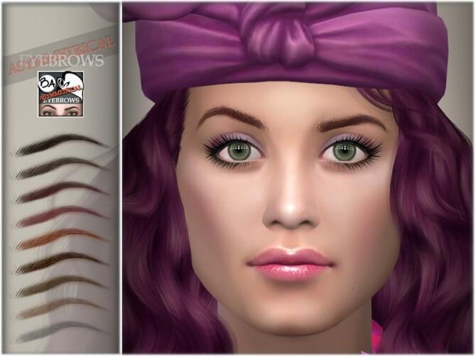 Sims 4 Asymmetrical Eyebrows by BAkalia at TSR