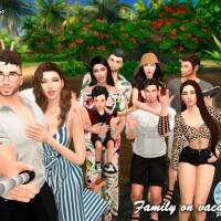 Family on Vacation II Pose Pack by Beto_ae0