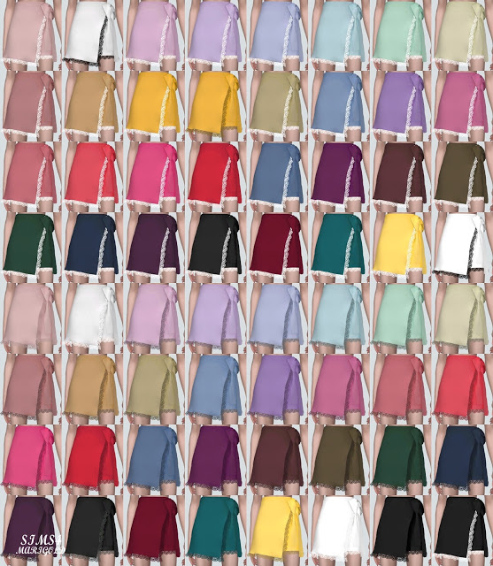Lace Cute Mini Skirt V2 at Marigold image 9711 Sims 4 Updates